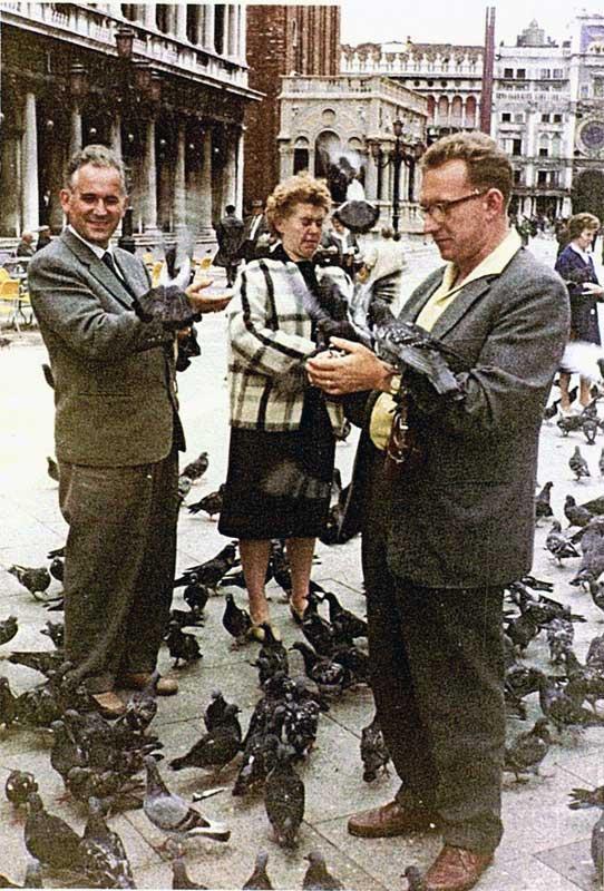 Rom-Reise-Taubenfuettern